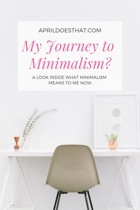 My Journey Toward Minimalism?