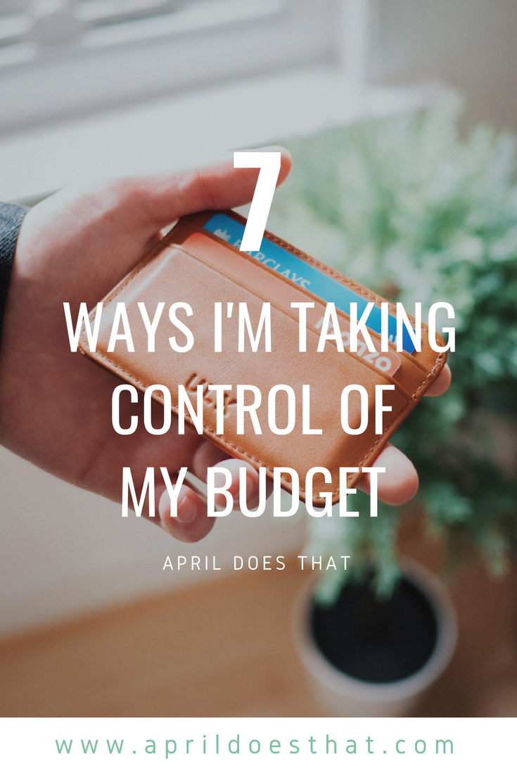 Taking Control of my Budget