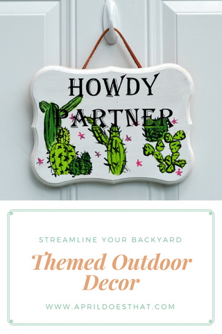 Themed Outdoor Decor
