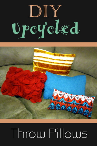 DIY Upcycled Throw Pillows